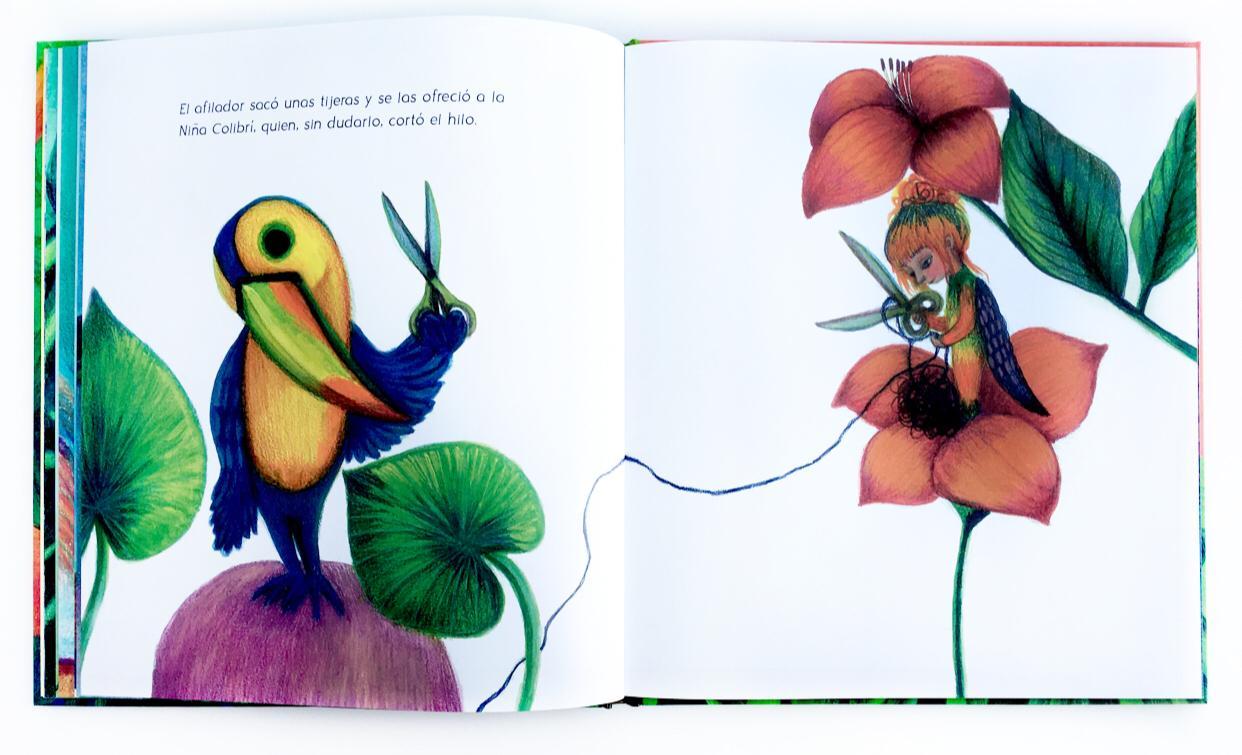 niña colibrí
